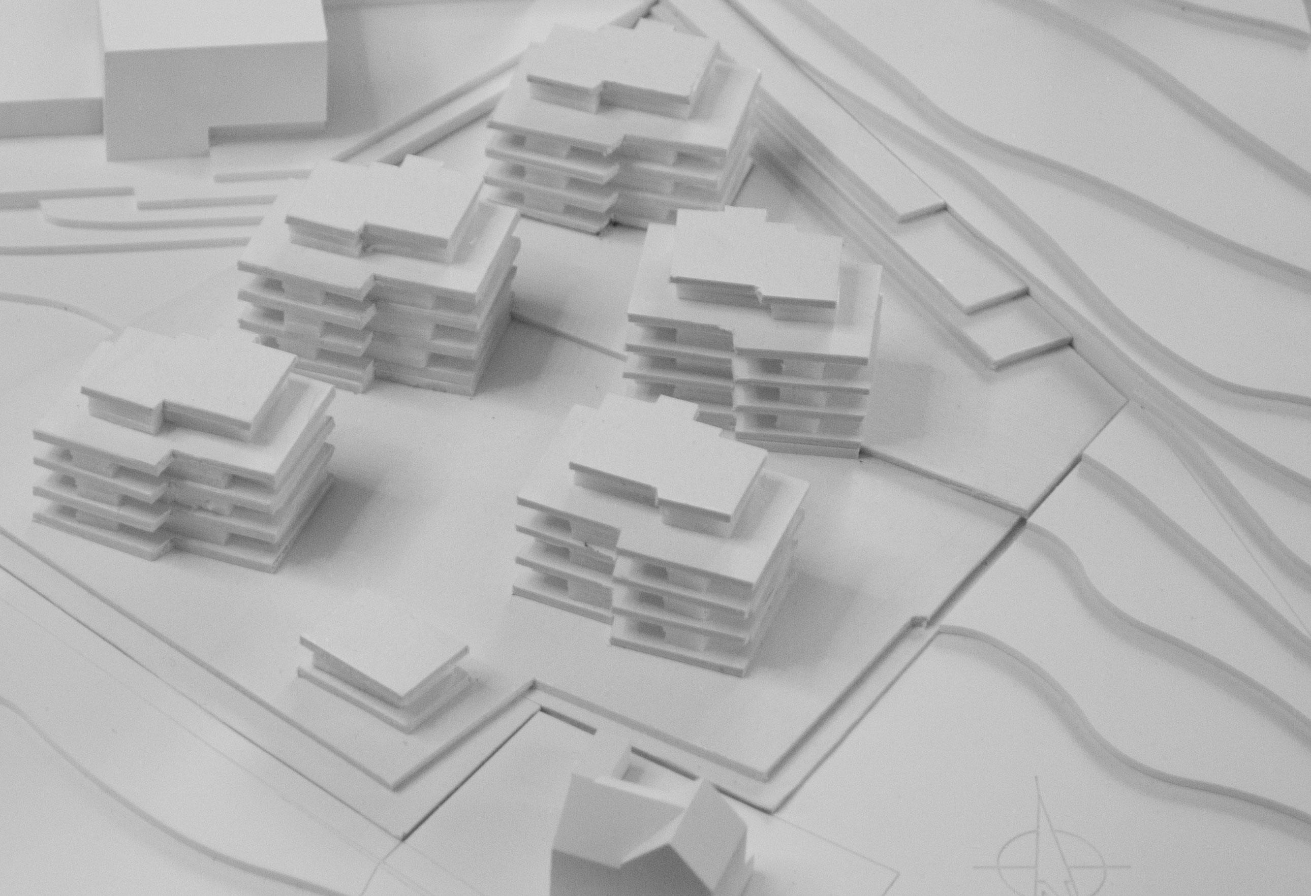Überbauung-Studie-MO-Architektur-Uznach-Linthgebiet-Ostschweiz-Modellfoto