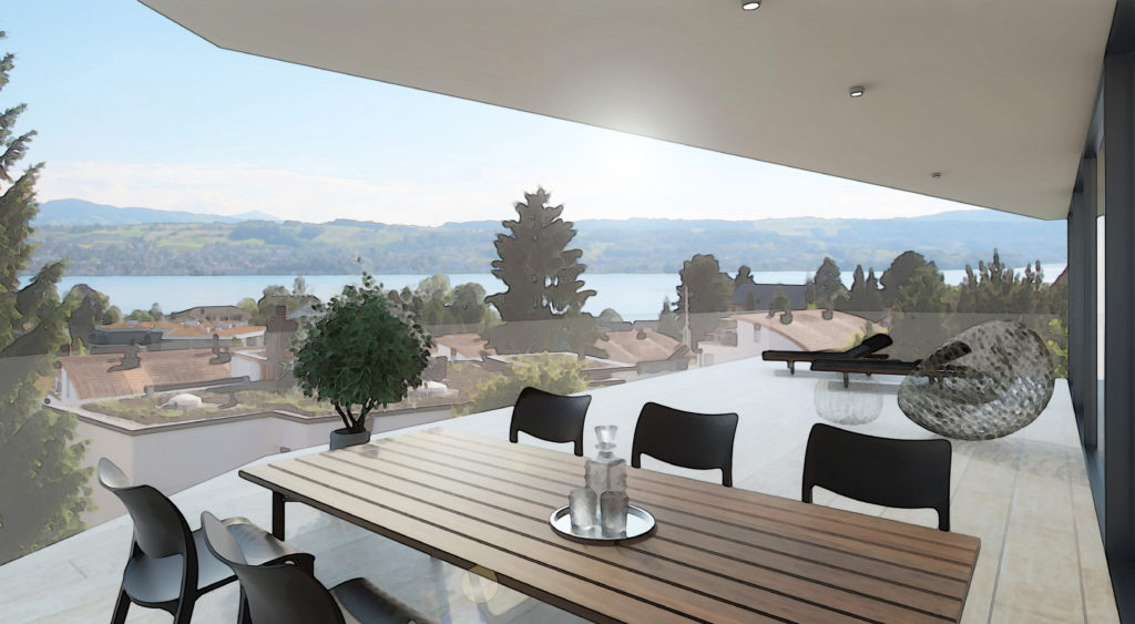 Visualisierung Terrasse
