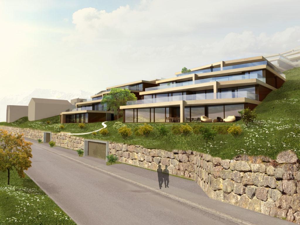 Visualisierungen Terrassenhäuser Vogelsagen Uetliburg-MO-Architektur-Uznach-Linthgebiet-Ostschweiz-1
